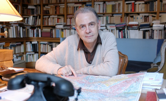 A walker in the city:  Patrick Modiano in 2004. (Photo by Ulf Andersen/Getty Images.)